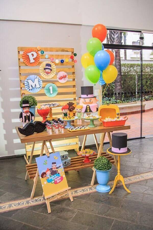 decoração festa mundo bita simples e rústica Foto Fazer em Casa