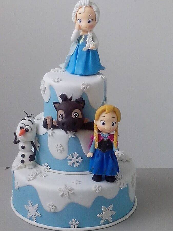 children's birthday cake decoration for frozen Foto Pinosy