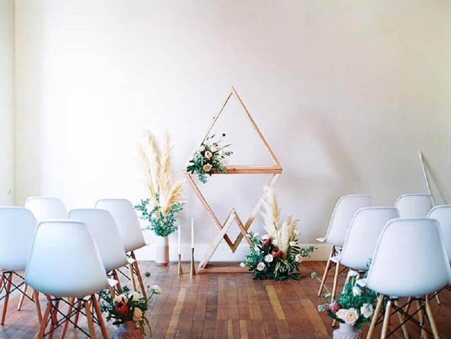 minimalist decoration for wedding ceremony Foto Amy Golding Photography