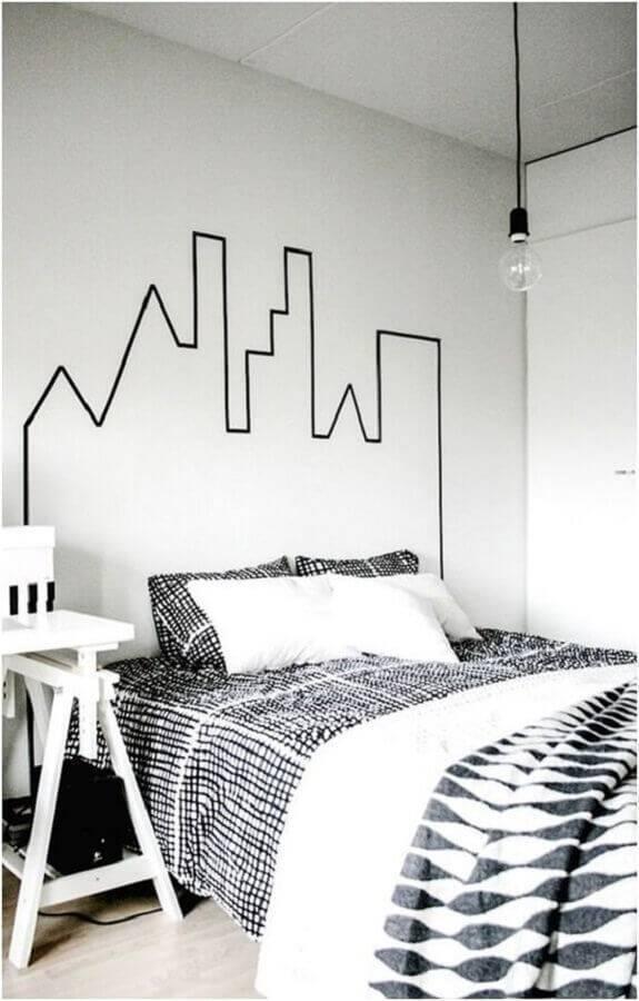 decoração minimalista para quarto branco e preto Foto Homens de Sucesso