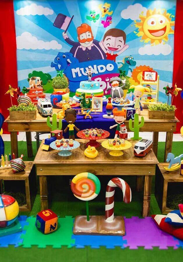 decoração para festa infantil mundo bita Foto We Heart It