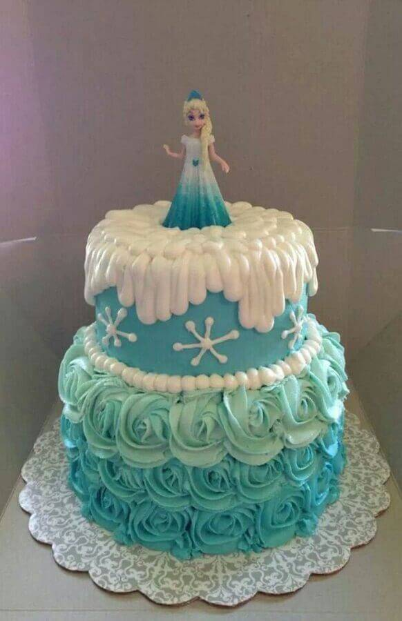 simple cake top decoration from frozen Foto Pinterest