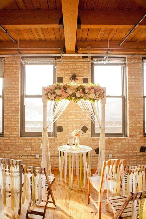 simple decoration for wedding ceremony Photo Elizabeth Anne Designs