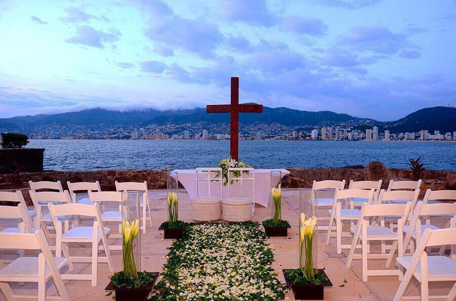 simple decoration for outdoor wedding ceremony Foto Pinterest