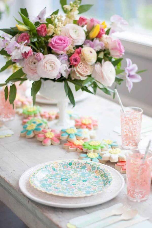 Flores coloridas para decoração de casa