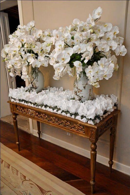 Decoração de casa com orquídeas