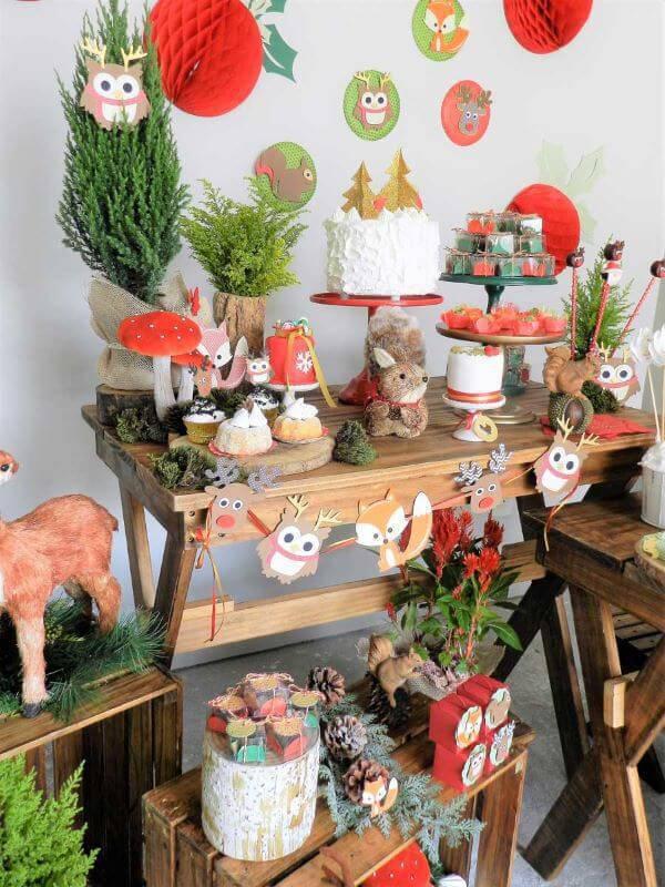 Decoração de festa em casa com animais