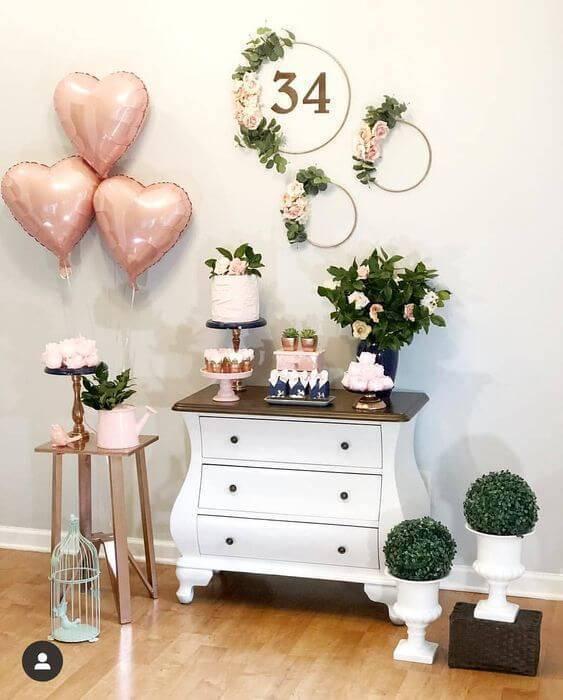 Decoração para festa em casa simples e linda