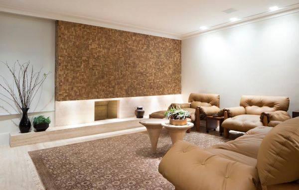 Decoração de sala de estar com 2 poltronas moles