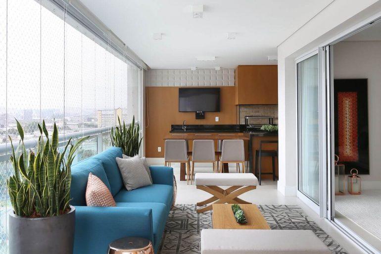 Modelo de móveis para varanda