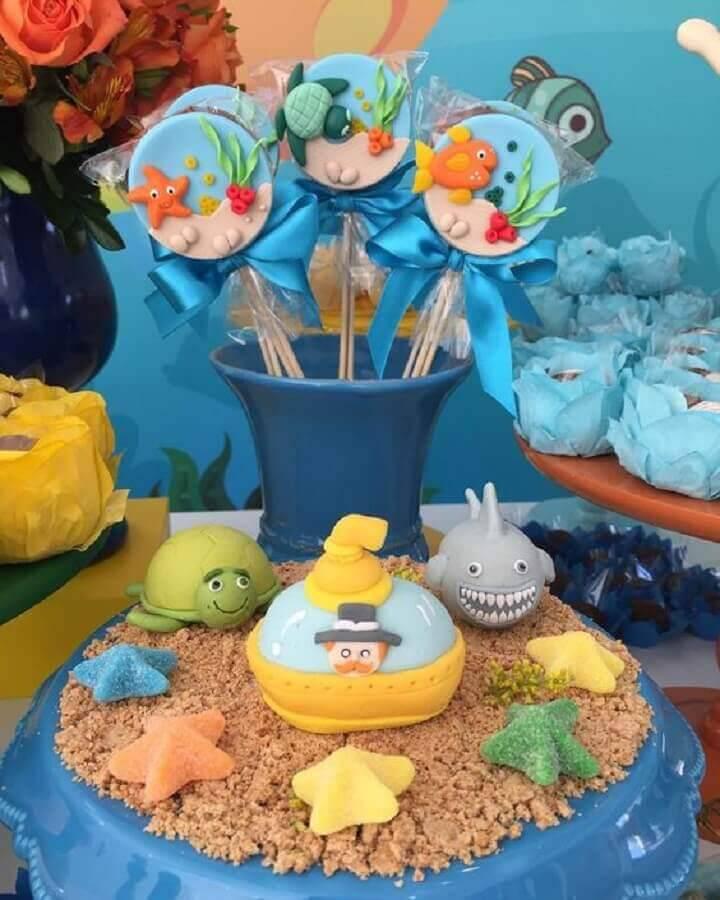 docinhos personalizados para festa mundo bita no fundo do mar Foto Amor de Mãe Decor