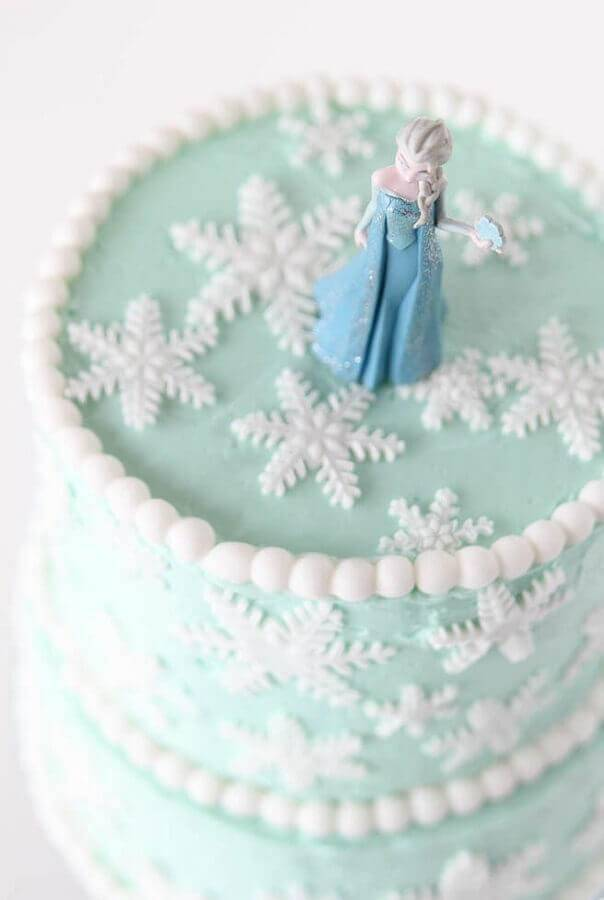 elsa como topo de bolo da frozen Foto Pinterest