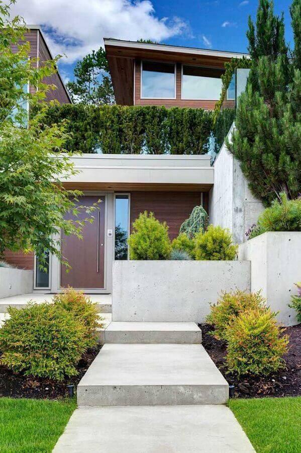 fachada de casa com jardim residencial Foto Pinterest