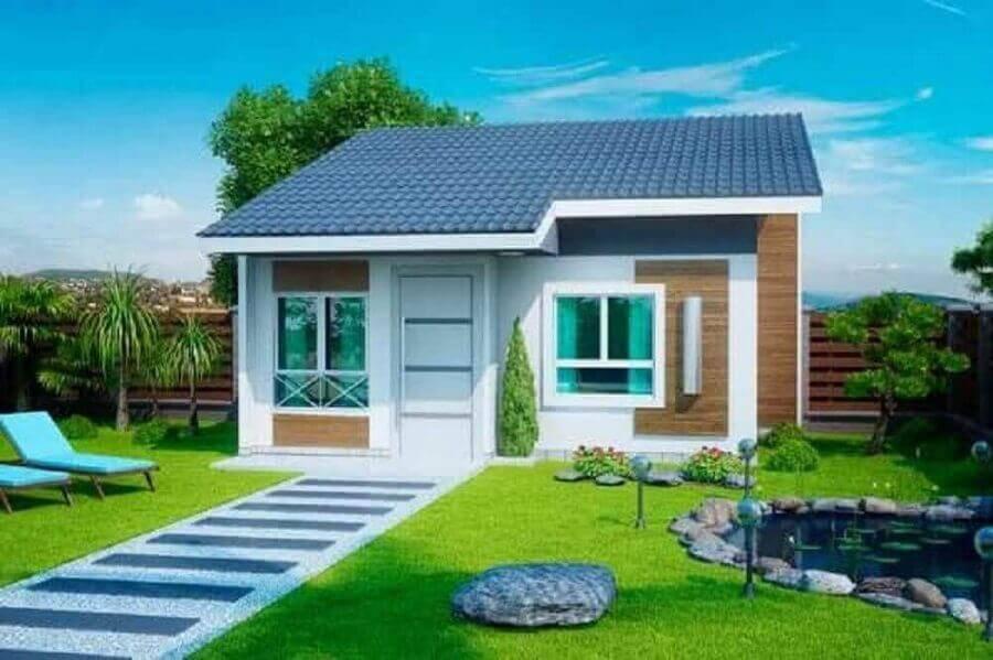 fachada de casas pequenas e lindas Foto Webcomunica