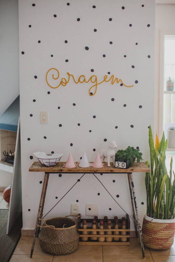 Festa em casa com decoração simples