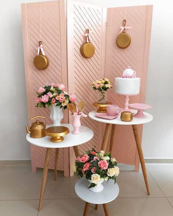 Festa em casa para chá de panela