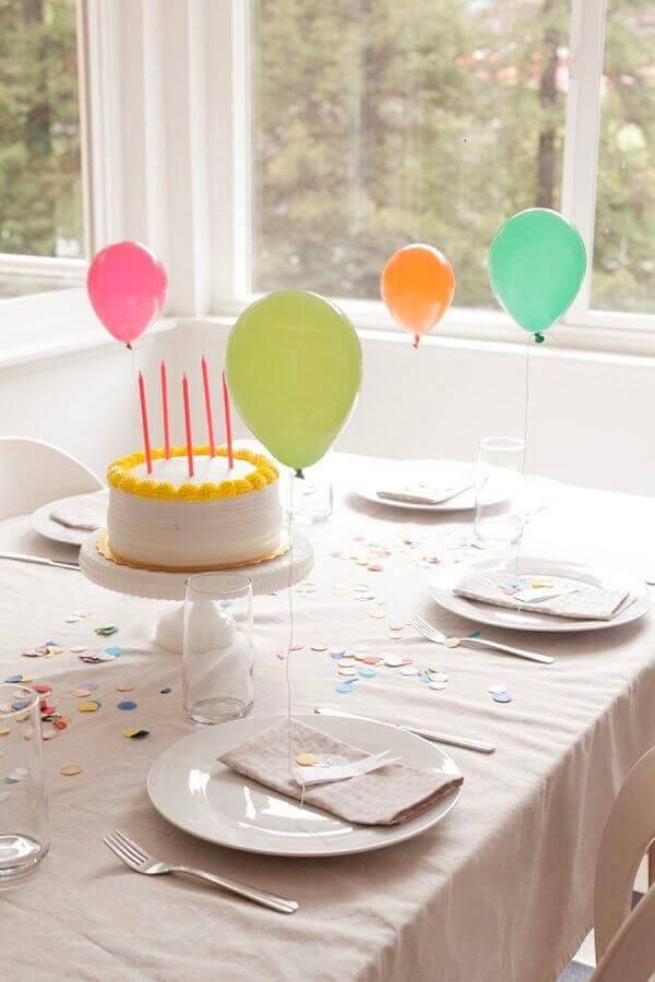 festa surpresa simples e barata em casa Foto Pinterest