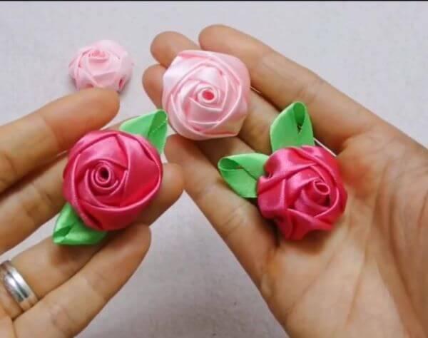 Aprenda como fazer flor de fita de cetim passo a passo