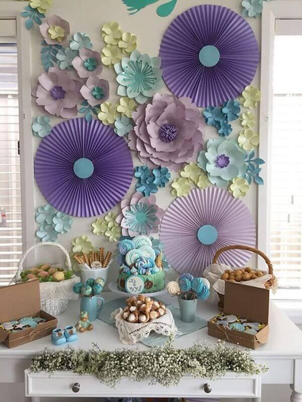 Flor gigante para decoração de festa em casa