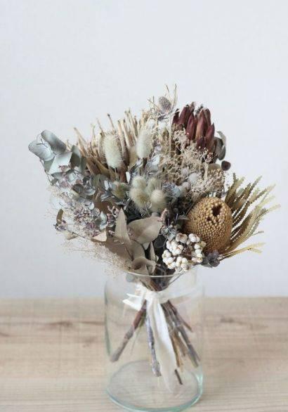 flores secas - arranjo de flores secas