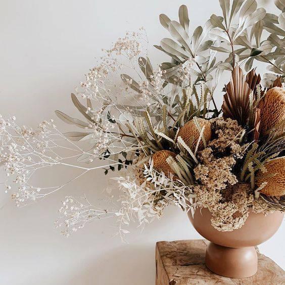 flores secas - arranjo grande com flores secas