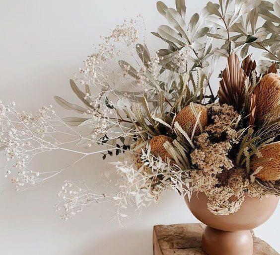 flores secas - arranjo grande com flores secas - Instagram