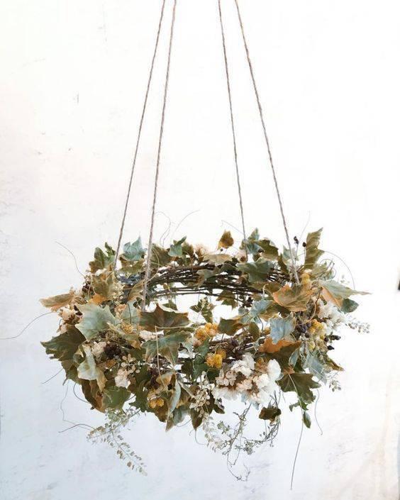 flores secas - arranjo suspenso de flores secas