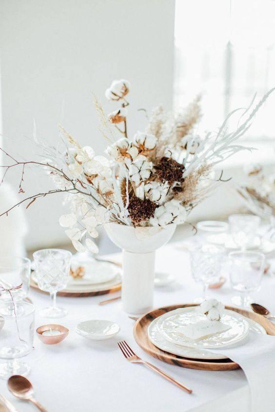 flores secas - centro de mesa com flores secas
