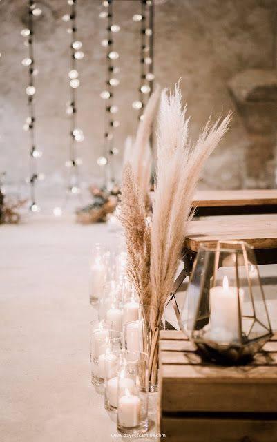 flores secas - decoração de festa com trigo