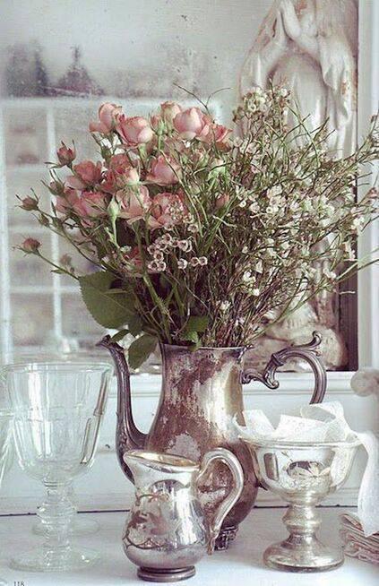 flores secas - jarra com flores secas
