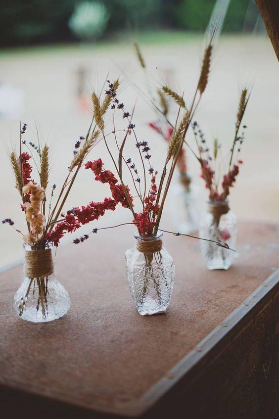 flores secas - lembrancinhas de flores secas