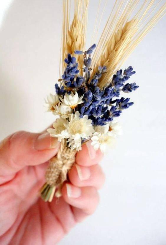 flores secas - pequeno arranjo de flor seca