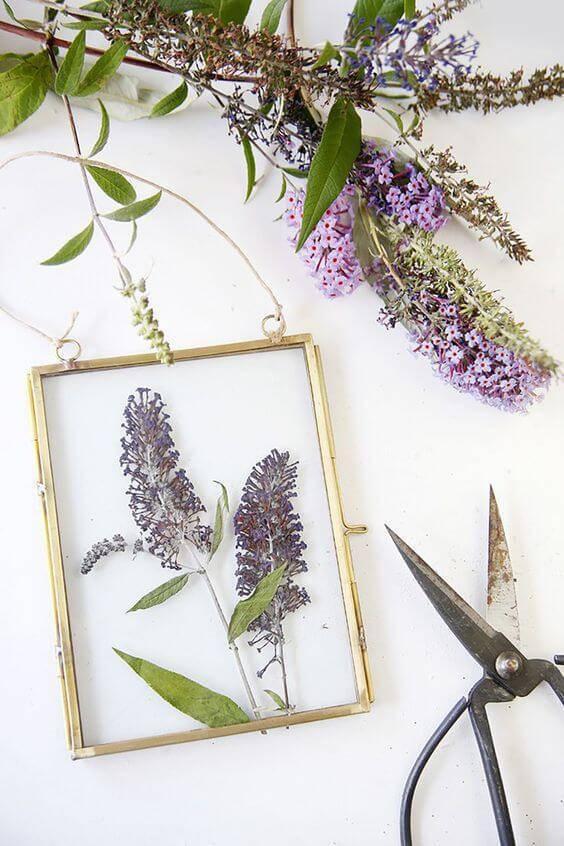 flores secas - quadro de flores secas