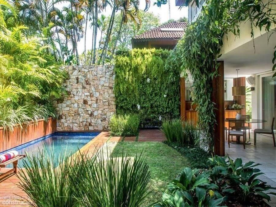 jardim residencial para área gourmet com piscina Foto Detalhes do Céu