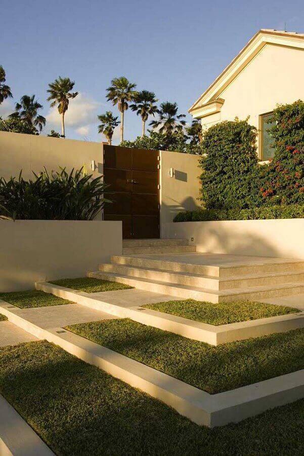 jardim residencial simples Foto Homedit
