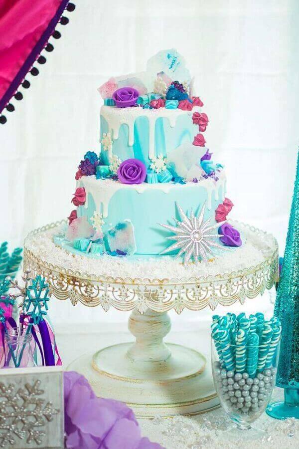 lindo modelo do bolo da frozen Foto Yelp