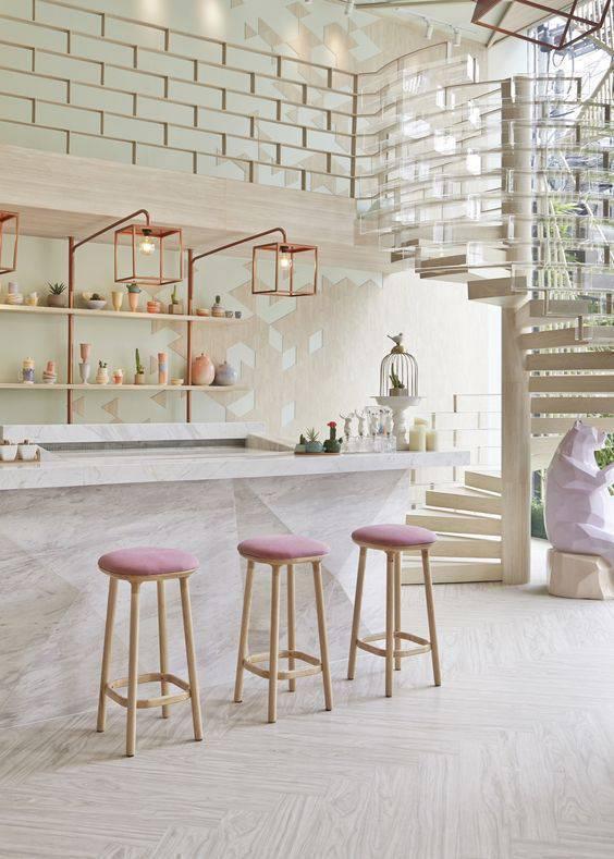 Lustre para cozinha moderna e iluminada
