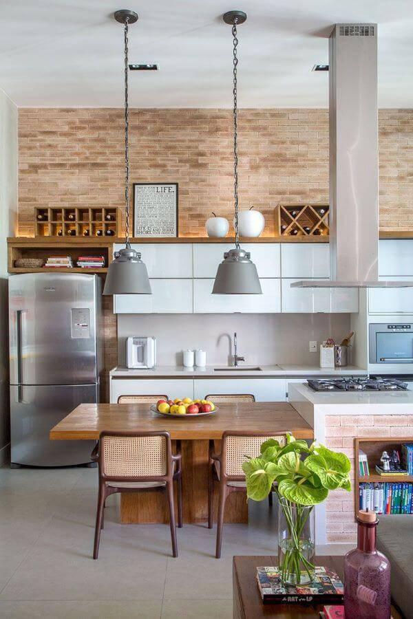 Cozinha cinza e moderna