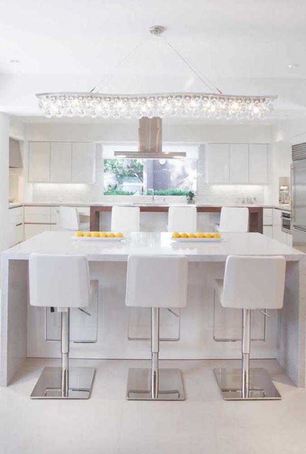 Lustre para cozinha de cristal