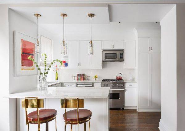 Lustre para cozinha pequena e clean