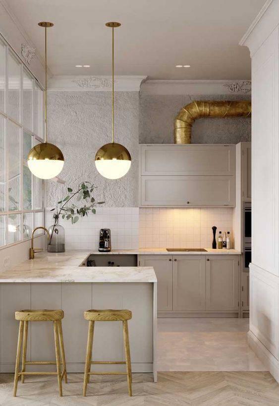 Lustre para cozinha pequena em branco