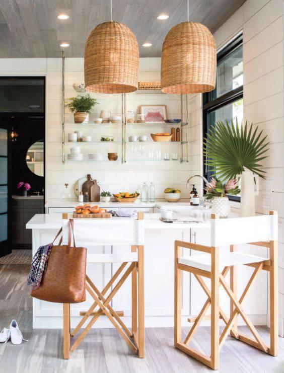 Lustre para cozinha rústica e bonita