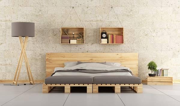 A madeira pode ser utilizada de diferentes formas no quarto