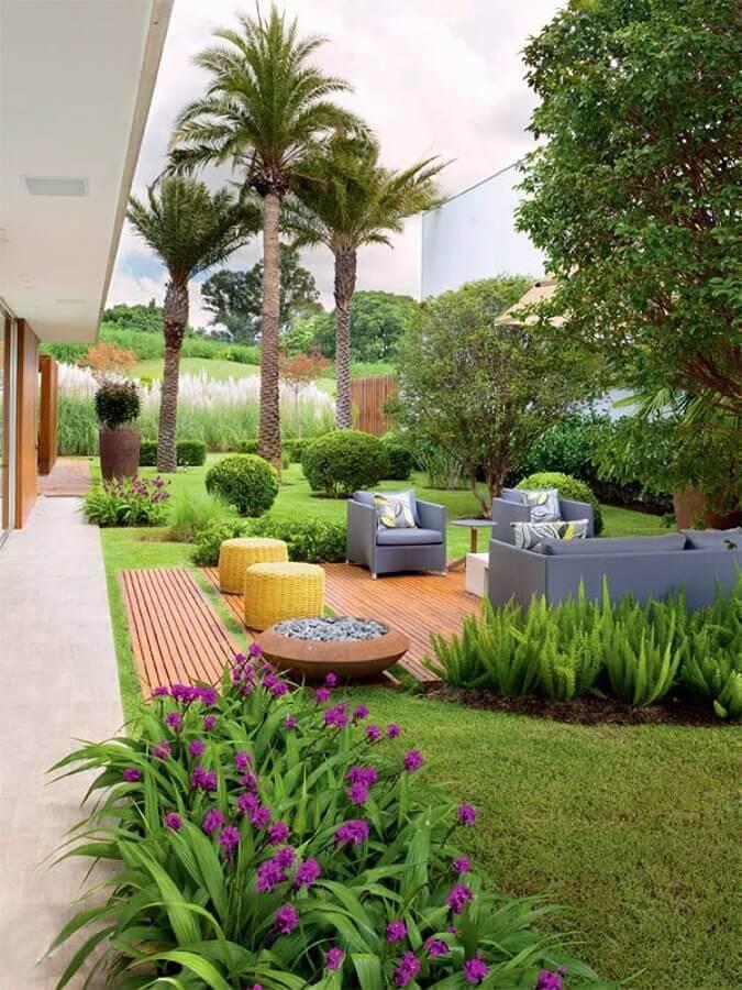 móveis para decoração de jardim residencial grande Foto Keep It Relax