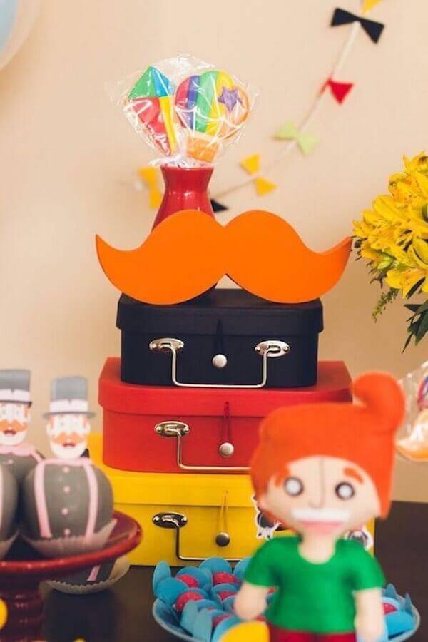 malas coloridas para festa mundo bita decorada Foto Receber e Celebrar
