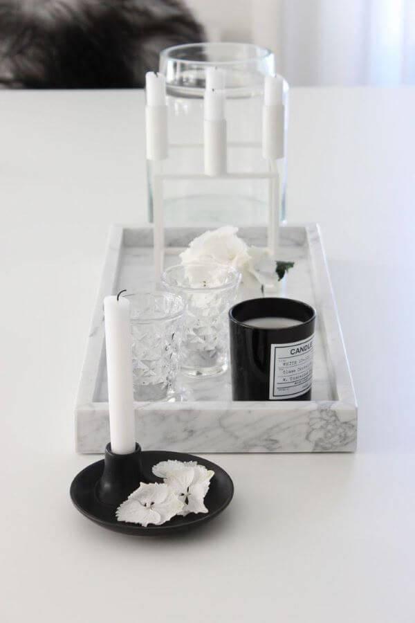 Bandeja de mármore