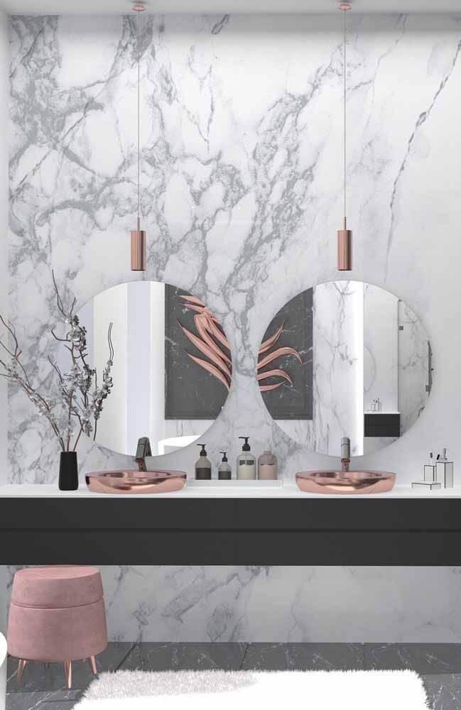 banheiro clean com mármore