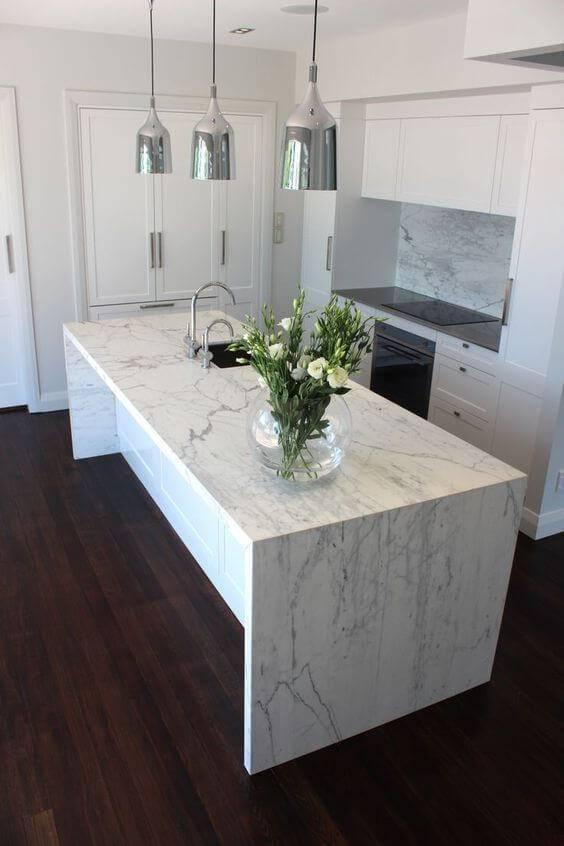 Cozinha mármore carrara