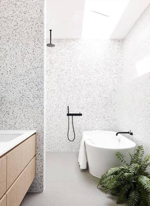 marmorite - banheiro com marmorite cinza