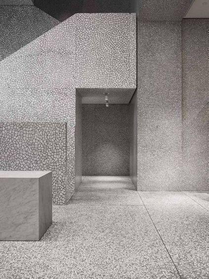 marmorite - corredor de marmorite cinza